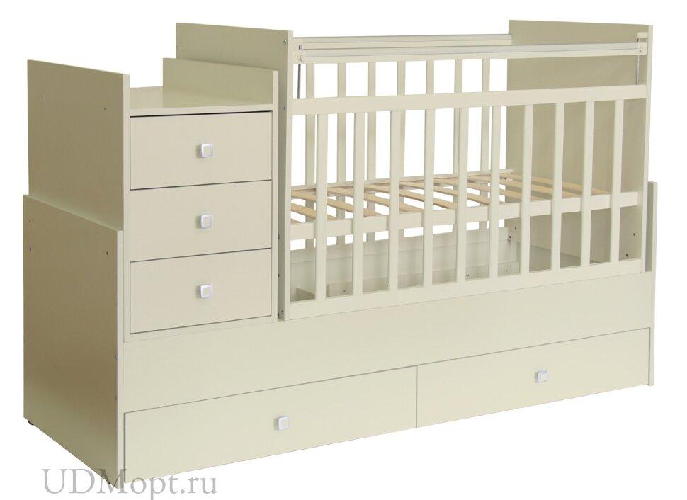 Кроватка детская Фея 1200 слоновая кость оптом и в розницу