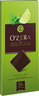 «OZera», шоколад горький с экстрактами лайма и мяты Dark & Lime, 100г оптом и в розницу