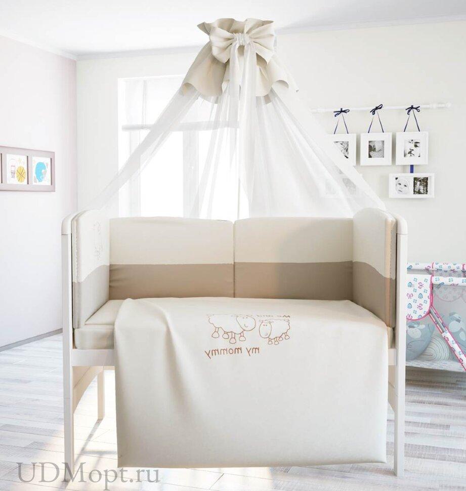 """Комплект в кроватку Polini kids """"Я и моя мама"""" 7 предметов 140х70 оптом и в розницу"""