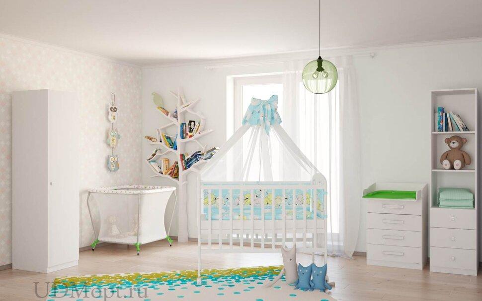 Кровать детская Фея 323 белый оптом и в розницу