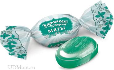Карамель со вкусом мяты (упаковка 1кг) оптом и в розницу