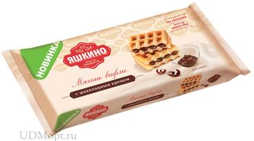 «Яшкино», вафли мягкие с шоколадным кремом, 120г оптом и в розницу