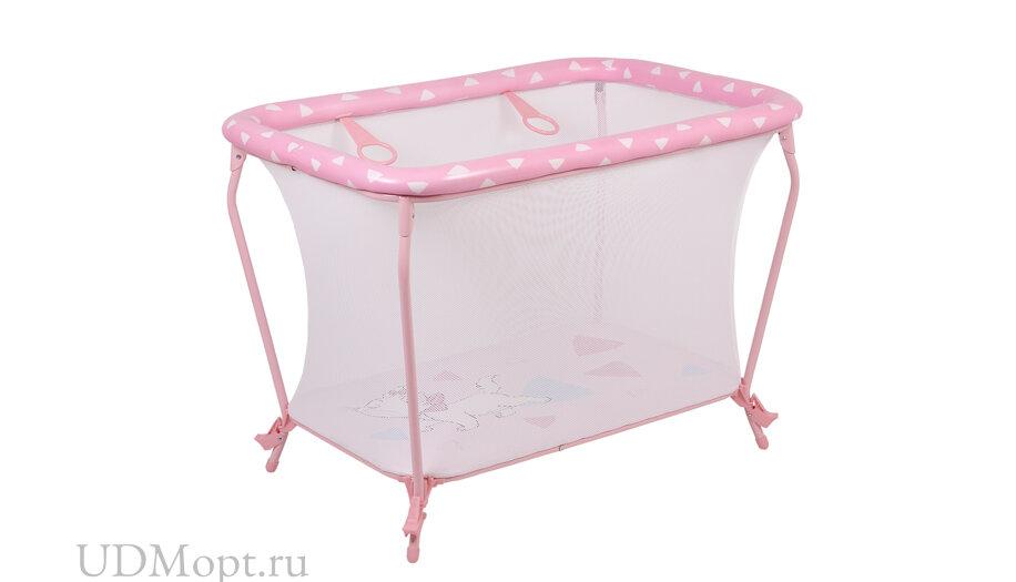 Манеж Polini kids Disney baby Classic Кошка Мари, розовый оптом и в розницу