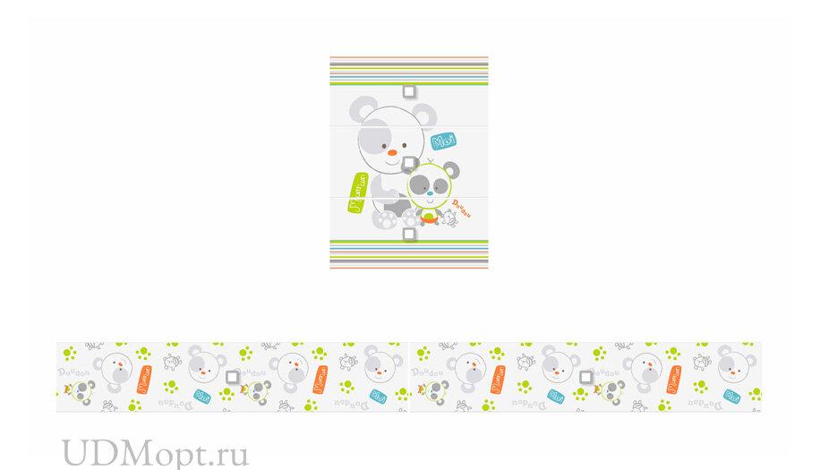 Фасад к кроватке детской Polini kids Simple 1100 Панды оптом и в розницу